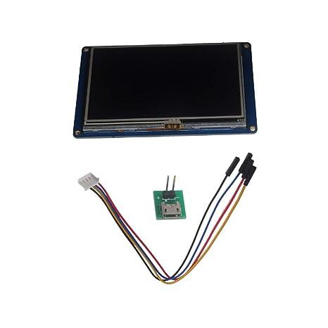 WIshioT Nextion 4 3 USART HMI TFT LCD Intelligent Touch Screen Display  Module 16M NX4827T043 for Arduino Raspberry Pi IOT