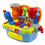 Toysery Musical Learning Workbench Toy with Tools,...