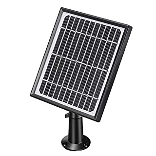 Wireless Rechargeable Battery Powered WiFi Camera Solar Panel, Power Supply for 1080P WiFi Outdoor/Indoor Home IP Solar Powered Security Camera
