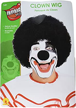 Rubie's Costume Humor Value Clown Wig, Black, One Size