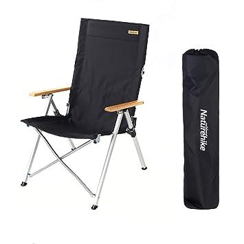 Amazon.com: Sillas plegables para acampada, respaldo para ...