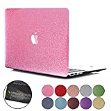 PapyHall MacBook Air 13 inch Case, New Bling Bling Crystal Rubberized Coated Hard Cover Case Colored Glitter Design Plastic Case for Macbook Air 13 inch Model : A1369/A1466 (SS-Pink)