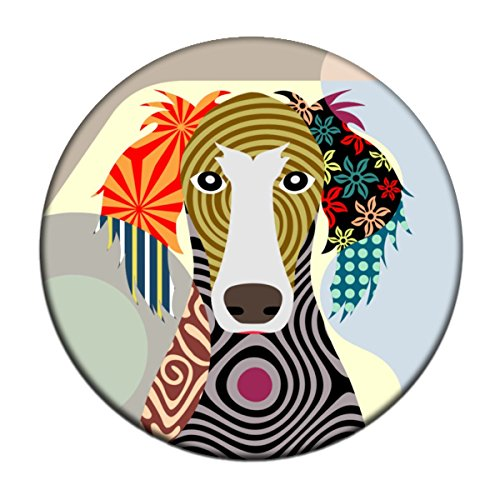 Saluki Magnet 2. 25 inches diameter & 0.25 inches thick