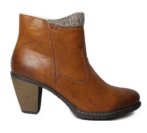 Rieker Light Brown Woman Guinea Boot jL534AR