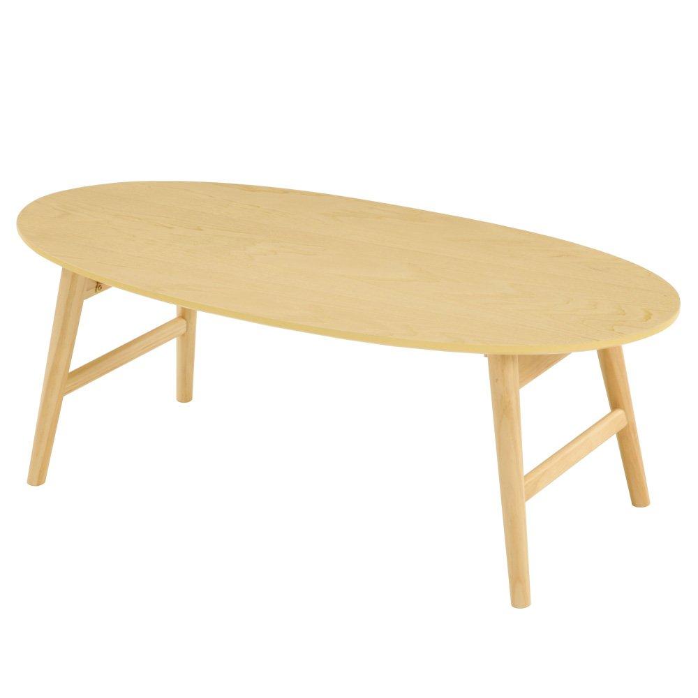 センターテーブル 木製 折りたたみ リビング ダイニング テーブル ローテーブル 完成品 机 ナチュラル B01MUTHSW7 ナチュラル ナチュラル