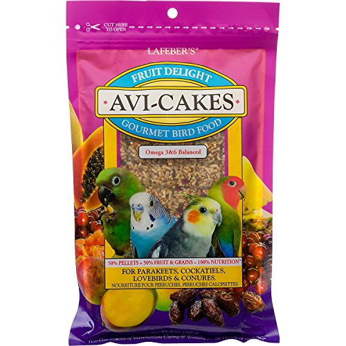LAFEBER'S Avi-Cakes Fruit Delight Gourmet Bird Food, (Parrot Cakes)