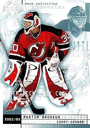 Amazon Com Ci Martin Brodeur Corey Schwab Hockey Card 2002 03 Ud