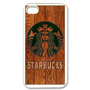 Starbucks Coffee Logo For iPhone 4 4s White Custom Cell Phone Case Cover 99II937469