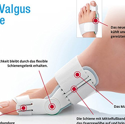 Healtheveryday®3 in 1 Day and Night Time Flexible Toe Splint Feet Pain Relief Big Toe Straightener Hallux Valgus Schiene Orthese Bunion Aid Hinged Splint Regulator Foot Aid Protector-1Pair