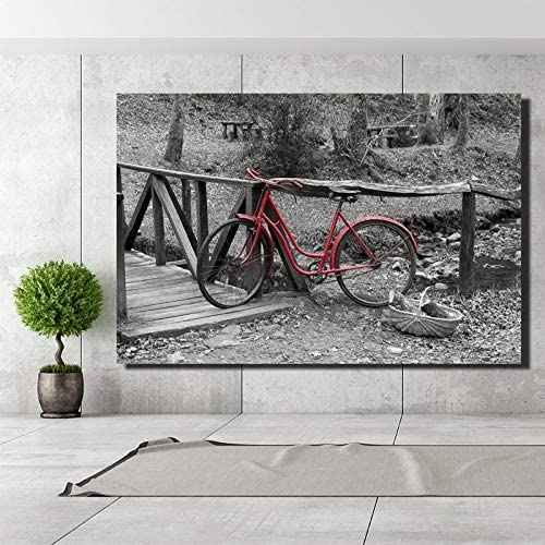 adgkitb canvas Bicicleta clásica artículos para el hogar Pintura ...