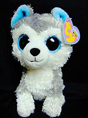 Amazon.com  IN HAND NEW TY BEANIES BOOS SERIES STUFFED ANIMAL BIG EYES eyes  ~~Slush the Husky dog ~~15cm Cute Plush doll  Baby 7f7b7d87b8ee