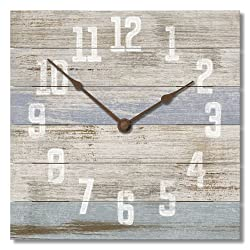 American Woodcrafters Beachy Blue 12 Wall Clock Made in USA from Reclaimed Wood Slats …