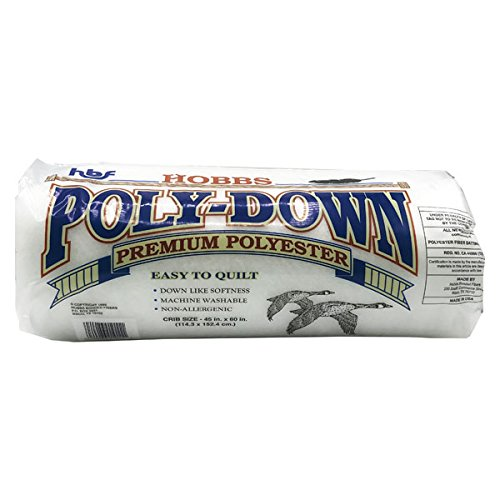 Hobbs Batting Poly Down Crib Size Polyester Quilt Batting ()