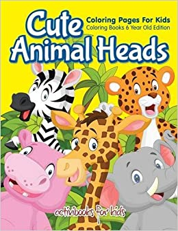 Cute Animal Heads Coloring Pages For Kids