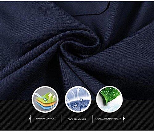 Tansozer Men's Shorts Casual Classic Fit Cotton Jogger Gym Shorts Elastic Waist Zipper Pockets (Black, Large) by Tansozer (Image #6)