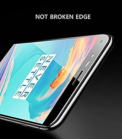 Oneplus 5T One Plus 5T Tempered Glass Screen Protector Anti Bubble Free HD Crystal Clear 9H Hardness (Edge to Edge Fitting) - Techstudio™