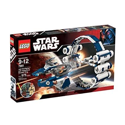 LEGO Star Wars Set #7661 Jedi Starfighter with Hyperdrive Booster Ring