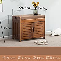 Shoe Bench Nnewvante Free StandIng OrganizIng Rack False LeaTher Shoe Storage Racks Seat For Closet Bedroom Kitchen Entry,Classic Silhouette Looks Great In The Entryway-59.532.549cm