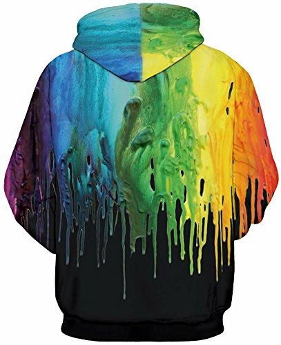 Adolescenti Felpe Arte Unisex Tasche Maniche Ponticelli Coulisse Cappuccio Graffiti Con 3d 4xl Black Per Uomo S Leapparel Lunghe Stampato w1YqOxpq
