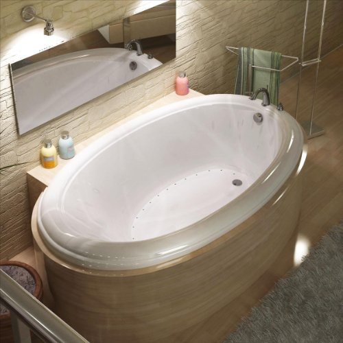 Atlantis Whirlpools 4478pcal Petite Oval Air Jetted Bathtub, 44 X 78, Center Drain, (Whirlpool Jetted Tubs)