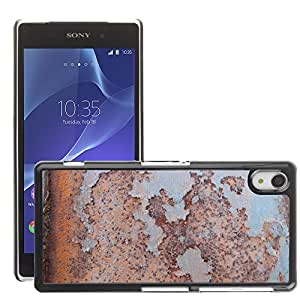 Print Motif Coque de protection Case Cover // M00154183 Óxido de metal oxidada la textura del // Sony Xperia Z2 L50W