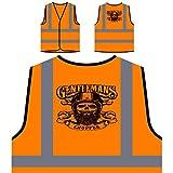 vest chopper - Gentlemans Chopper Personalized Hi Visibility Orange Safety Jacket Vest Waistcoat u633vo