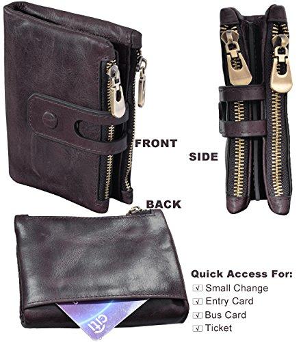 4bd959d1a988 Wallets & Holders - Beurlike Men's RFID Blocking Vintage Genuine ...