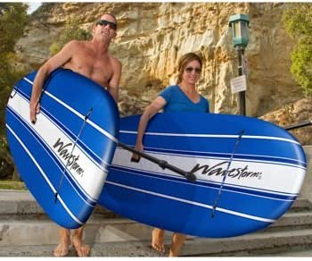 Wavestorm 9ft6 Stand Up Paddleboard 2-Pack Foam Wax Free Soft Top SUP for Adults and Kids of all levels of Paddling