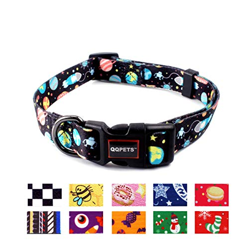 QQPETS Dog Collar Personalized Adjustable Basic Collars Soft Comfortable for Puppy Small Medium Large Dogs or Cats…