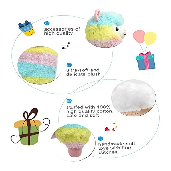 Alpacasso - Rainbow Plush Alpaca - 14 Inch 4
