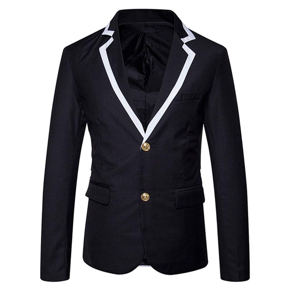 WEEN CHARM Mens Slim Fit Casual Blazer Jacket Two Button Lightweight Suit Jacket Sport Coat