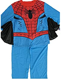 Little Boys Sky Blue Spiderman Superhero 2 Pc Pajama Set 2T-6