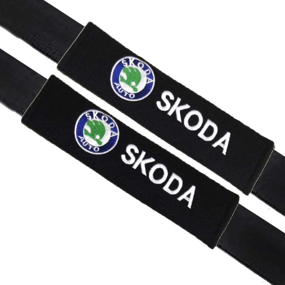 VILLSION 2Pack Car Seat Belt Pads Cover Soft Cotton Auto Safety Belt Cushion Neck Shoulder Pads for Fiat