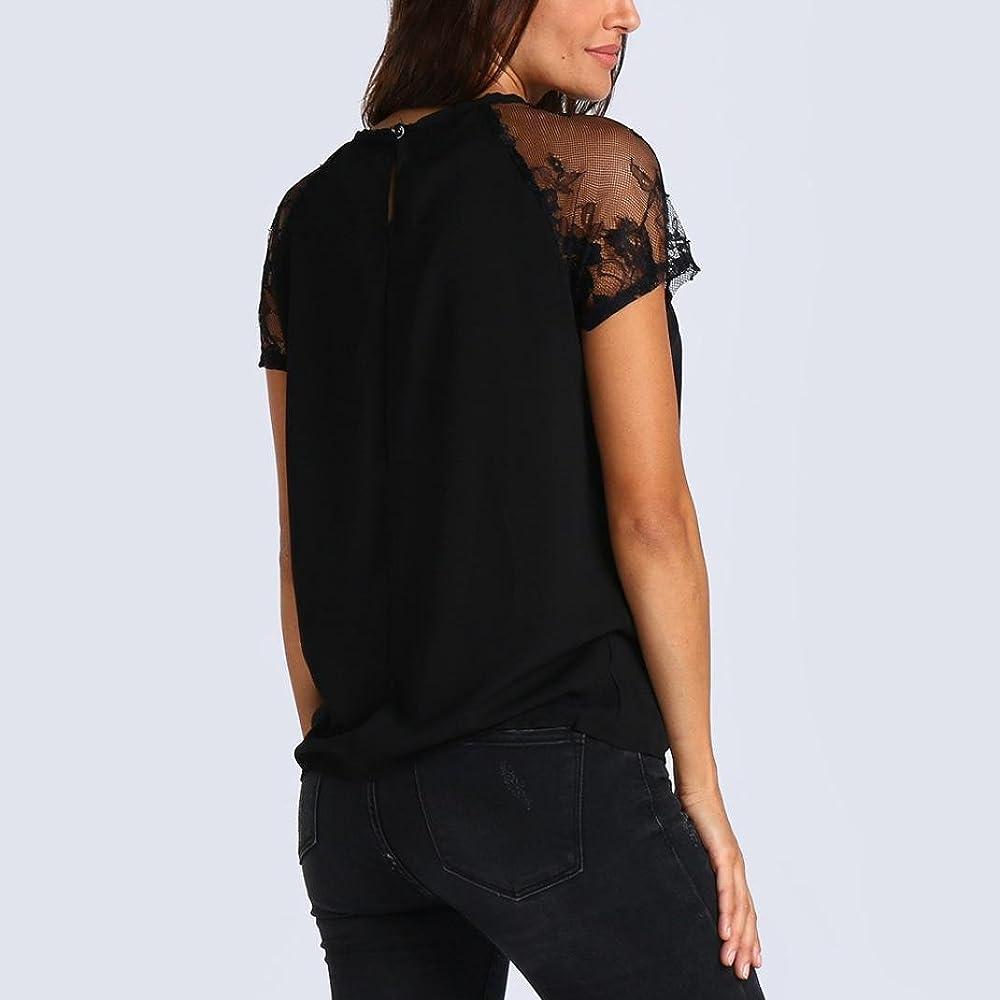 FAMILIZO Blusa Mujer Elegante Camisetas Mujer Manga Corta Algodón Camiseta Mujer Camisetas Mujer Rayas Camisetas Sin Hombros Mujer Camisetas Mujer Tallas Grandes Camisetas Mujer Verano (S, Negro): Amazon.es: Ropa y accesorios