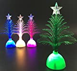 Tuscom Christmas Xmas Tree Seven Color Changing LED Light Lamp,for Home Party Decoration,4.7X1.4'' (White)