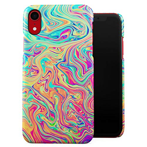 Soap Film Tie Dye Colorful Iridescent Pale Rad Indie Boho Tumblr Plastic Phone Snap On Back Case Cover Shell Compatible with iPhone Xr