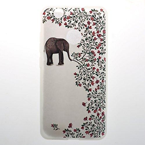 Funda Huawei Nova,XiaoXiMi Carcasa de Silicona TPU Suave y Esmerilada Funda Ligero Delgado Carcasa Anti Choque Durable Caja de Diseño Creativo - Mapa Flores de Elefante