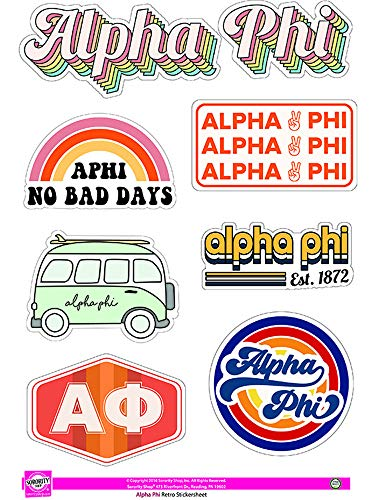 Best alpha phi sticker sheet