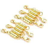 Ellami pack of 20 Gold and silver tone magnetic lobster clasp and chain extender for Jewelry Necklace