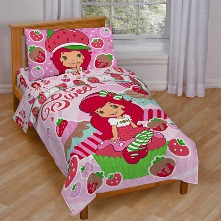 Baby, Childrens, Toddler 4 Piece Bedding Set (Strawberry Shortcake) ()
