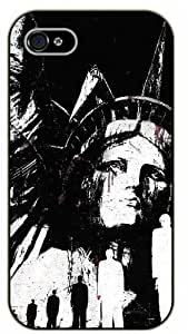 Case For Sam Sung Galaxy S5 Cover New York Statue of Liberty face - black plastic case / Nature, Animals, Places Series