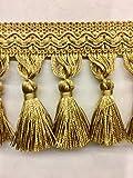 """3.5"""" Tassel Fringe Trim (Antique Gold) TF-5/12"""