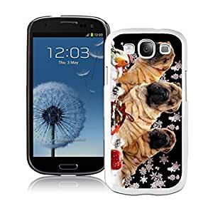 Niche market Phone Case Christmas Snowflake Dogs White TPU Samsung Galaxy S3 Case,Case For Samsung I9300