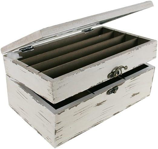 CAL FUSTER - Caja para infusiones de madera color blanco mi ...