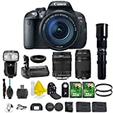 Canon EOS Rebel T5i 18.0 MP CMOS Digital Camera Digital SLR Camera + Canon EF-S 18-135mm IS STM + Canon 75-300mm III Lens + 500mm Preset Telephoto + 2pc 32GB Memory Cards + Camera Backpack