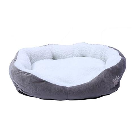 NiceButy Extraíble Perro Cave Redonda o Oval Cama para Animal doméstico Gato Cama Forma Simple Polar
