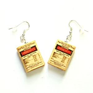 Sign of Four Sherlock Holmes Arthur Conan Doyle Clay Mini Book Earrings Choose Your Hardware
