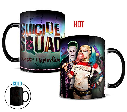 Morphing Mugs Suicide Squad The Joker and Harley Quinn Heat Reveal Ceramic Coffee Mug - 11 Ounce (Suicide Squad Joker And Harley Quinn Images)