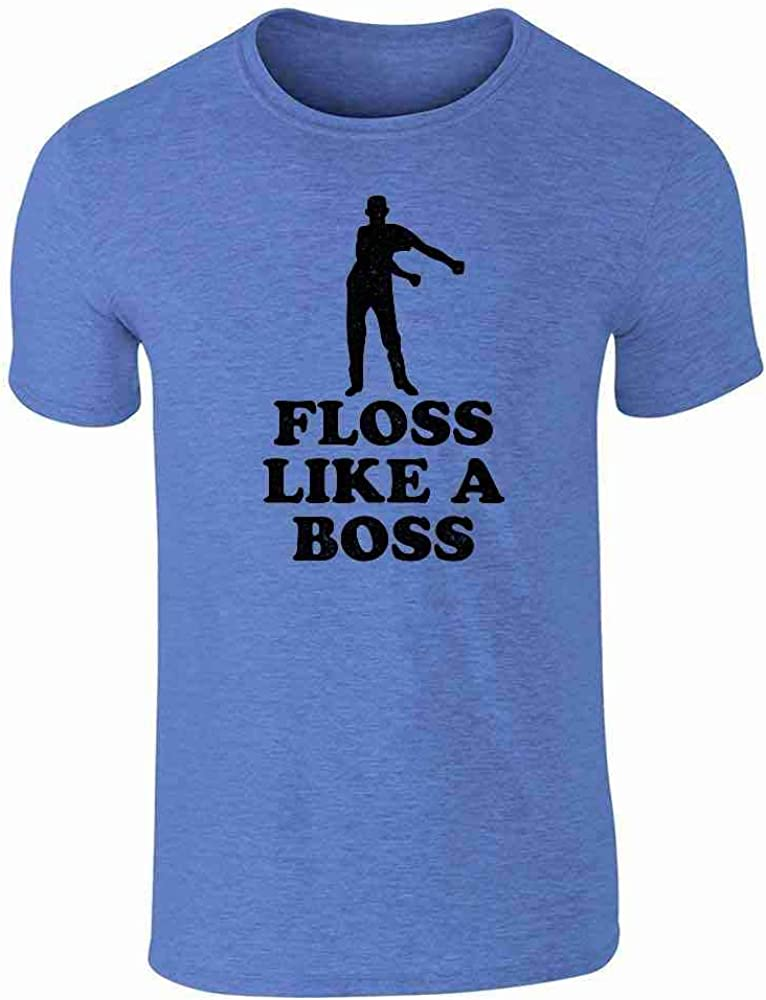 Floss Like A Boss Dance Silhouette Funny Heather Royal Blue M Graphic Tee T-Shirt for Men 51wSG9mRaEL
