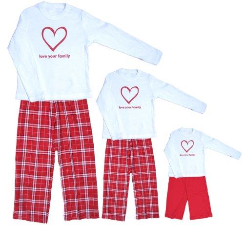 Sweetheart LYF Heart White Shirt Pant Set - Baby 3-6m, L/S, Red Pants